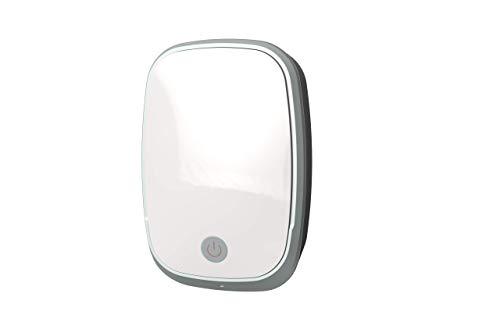 Purificador de aire, mini generador de ozono portátil con enchufe. Air purifier. Esterilizador, Ionizador. Desodoriza y desinfecta tu hogar y oficina. Destruye bacterias, virus, ácaros y malos olores.