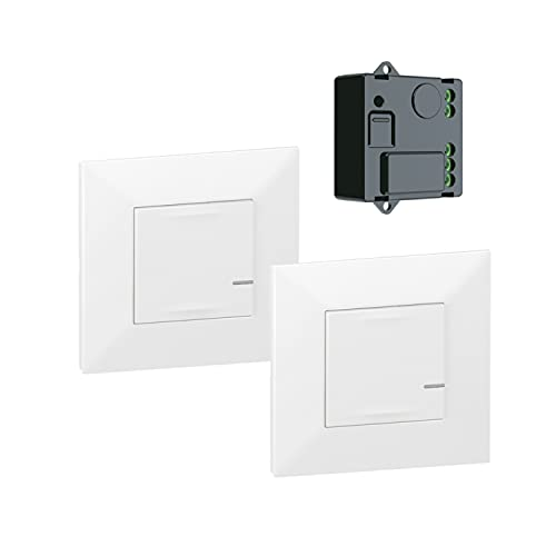 Pack pre-configurado para controlar un micromódulo de iluminación, control desde la app Home+Control, con control por voz, color blanco, 6 x 8,5 x 8,5 centímetros (referencia: Legrand 741820)