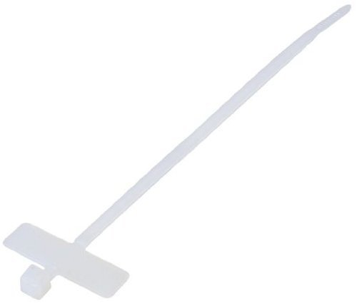 Kabelbinder mit Beschriftungsfeld quer 200 x 2,6 mm, zum Abbinden bis Durchmesser 50 mm, weiß, 200 Stück