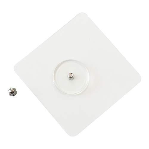 Magie-Klebepads 2 Stücke, EINFAGOOD Spurloser Klebernagel, Ideale Alternative zu Schrauben und Dübel, Edelstahl Schraubenlänge 12 mm (tranparent, 12)