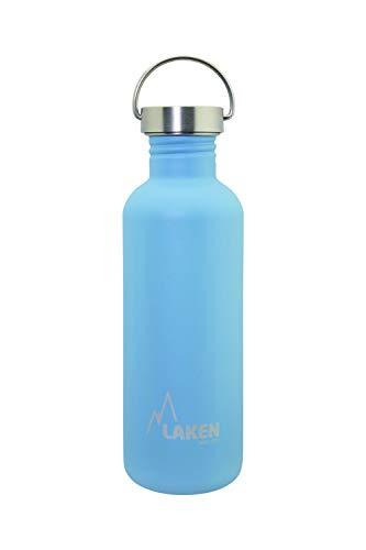 Laken Basic Botella de Acero Inoxidable con Tapón de Rosca Acero y Boca Ancha 0,35-1L