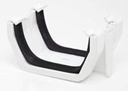 White External STOPEND for 112mm Square guttering Substitute Hepworth SG17