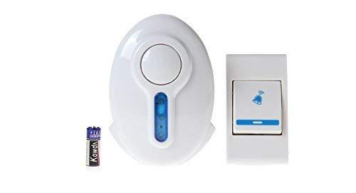 SHREEJI Wireless Doorbell Door Bell Chime it with LED Control Door calling Bell Door Bell for and Shop (Multicolour, Small)