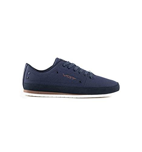 vo7 - Zapatillas de piel para mujer, azul, 43 EU