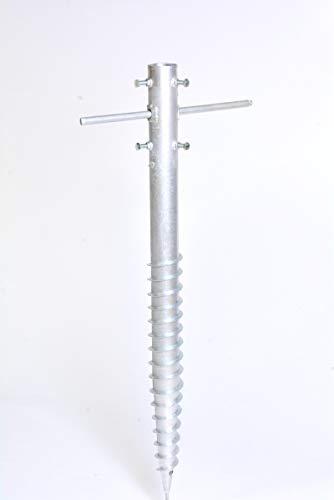 Zaun-Nagel Bodenhülse XL bis Ø 65 mm / 80 cm, Schwerlast für Zaunpfosten, Sonnenschirm, Fahnenmast, Wäschespinne UVM.