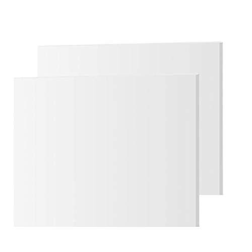 Expanded PVC Sheet – 2 Pack – Lightweight Rigid Foam – 3mm (1/8 Inch) – 12 x 12 Inches – White – Ideal for Signage, Displays, and Digital/Screen Printing
