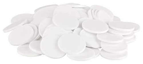 Einkaufswagenchips Einkaufschips viele Farben, einsetzbar als Spielgeld oder Spielmünzen, Farbe:weiß, Größe:100 Stück