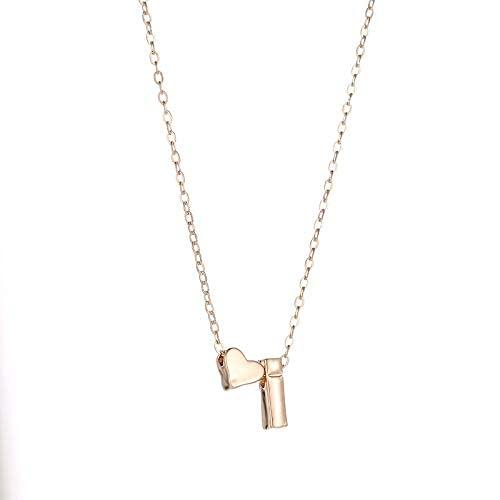 MTWERS Collar de Cadena Estilo de Moda Tierno Carta Inicial Nombre de la Letra de Las Mujeres Collar de joyería Cadena de clavícula (Color : A2, Size : L2)