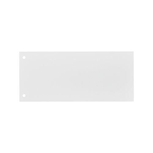 ELBA 100421030 Karton-Trennstreifen 10,5 x 24 cm 100er Pack weiß