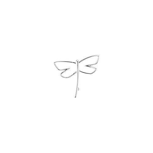 JewelryWeb Broche de Plata de Ley con diseño de libélula