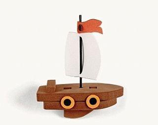 Floating Foam 3D Pirate Ship Craft Kit for 12 Kids | Skull & Crossbones Crafts