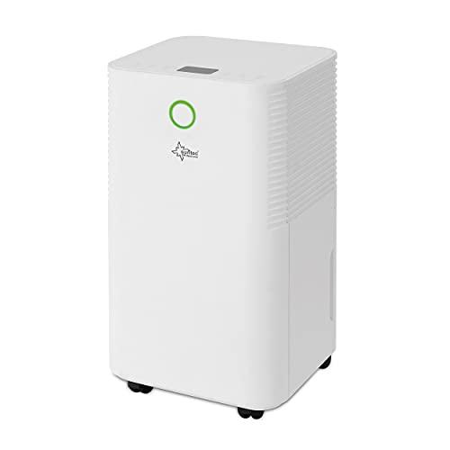 SUNTEC DryFix 12 EQ Luftentfeuchter – Für Räume bis 34 m2 bzw. 80 m3 – Raumentfeuchter mit 12 l/Tag Entfeuchtung – 3 in 1 Entfeuchter + Luftreiniger + Wäschetrockner – Mobil und elektrisch