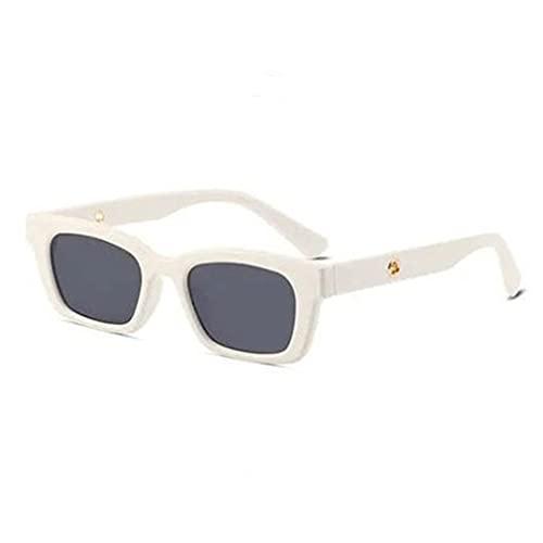 CloverGorge Gafas de Sol Ligeras para Hombres y Mujeres Gafas de Sol cuadradas Gafas Decorativas