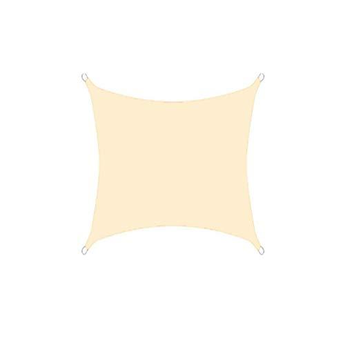 DIANPU Velas De Sombra para Patio, Cuadradas Impermeables Protección Solar Y Protección UV Velas De Sombra para Jardín De Patio Al Aire Libre (2m*2m,Beige)
