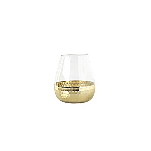 Botella de Flor Ins nórdico florero de Cristal de Lujo de luz Dorada florero de Cultura de Agua Transparente Moderno Adornos de decoración del hogar Flora Jarrón