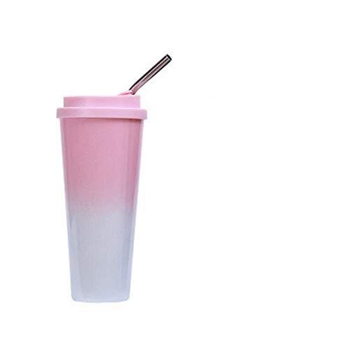 ZYLLL Thermocups Doppelwandige Isolierflaschen aus Edelstahl Kaffee Teeflasche Thermocup Lila 1 450ml