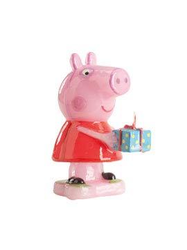 COOLMP – Juego de 6 Velas de Peppa Pig de 8 cm – Talla única – Decoración y Accesorios de Fiesta, animación, cumpleaños, Boda, Evento, Juguete, Globo