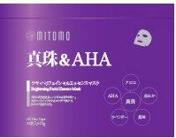 【MITOMO/美友】フェイスマスク・シートマスク【MT001-B-2】真珠&AHA 36枚入✕2パック