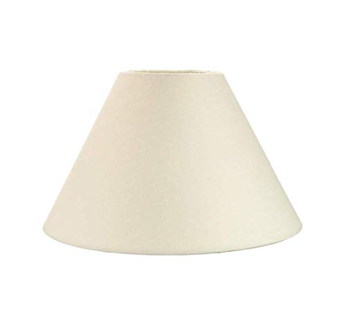 Traditional Plain Cotton Coolie Lampshade - for Table Lamps or Ceiling - Cylinder Pendant with Reducer - 10' / 25cm -(Cream)