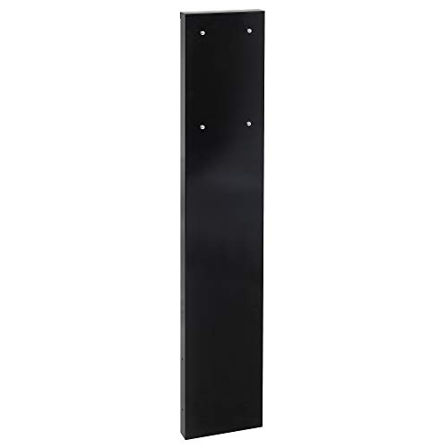 MEFA Säule 72 für Briefkasten (Briefkastensäule, Farbe schwarz glänzend, HxBxT: 1100x205x44 mm) P72110