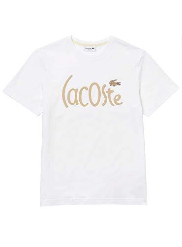 Lacoste Camiseta Logo Oversize Blanco para Hombre 5
