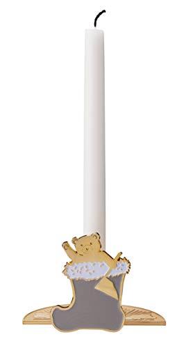 Stelton - Kerzenhalter/Kerzenständer - While Waiting - Weihnachtsstrumpf - Messing/Hellgrau