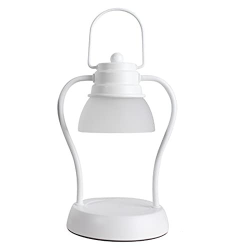 LONG-L Mini Quemador De Cera,Lámparas Ambientadoras De Regulable,Accesorios para Fragancias,Difusores De Aceite Perfumado,White