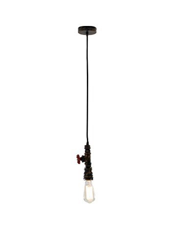 Luce Design Pendelleuchte Landhausstil E27, 60Watt, rost, 120x 12, Kupferrohr-Optik