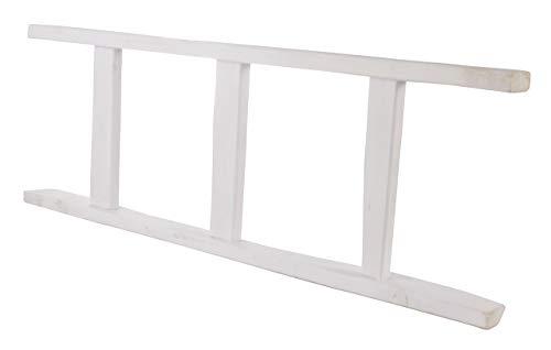 Vintage Möbel 24 GmbH 1x Leiter aus Holz, schön als Handtuchhalter oder zum Dekorieren (Weiß, 165cm)