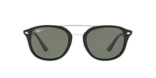Ray-Ban Unisex-Erwachsene RB2183 Sonnenbrille, Schwarz (Black / Polarisiert Grün Klassisch G-15), 53