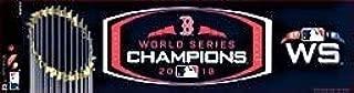 Rico Enterprises 2018 Boston Red Sox World Series Champions Bumper Sticker