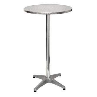 Garden / Patio High Top Poseur Table Stainless Steel - 60cm Diameter - stylish and durable furniture for your garden