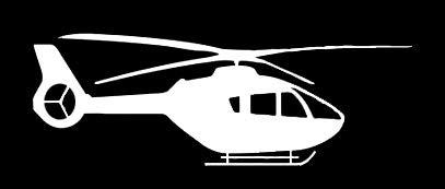 LLI Helikopter - Aufkleber Vinyl - Aufkleber - Auto LKW Vans Walls Laptop - weiß - 5,1 x 5,1 cm - LLI1369