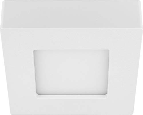 LED 6in1 CCT Slim Panel Downlight - 9W IP44 eckig - 3000K 4000K 6000K - Trafo integriert - 122x122x35mm flach
