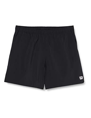 Wilson Herren Tennis-Shorts, M Team 8'' Short, Polyester, Schwarz, Größe: 2XL, WRA765502