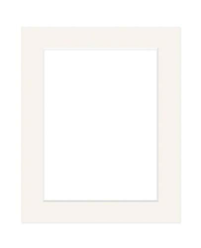 Deha Passepartout Karton 50x70 cm für Bilder im Format 40x60 cm, Elfenbein