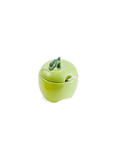 Sucrier en forme de pomme en céramique 9 x 8 x 10 cm vert