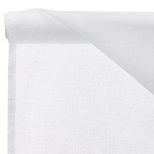 Cortina de gasa de muselina blanca, 150 cm de ancho, forro de muselina blanco puro, tela de muselina y material de muselina