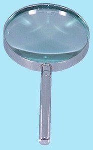SEOH Magnifying Glass Hand Lens Metal Mount 100mm