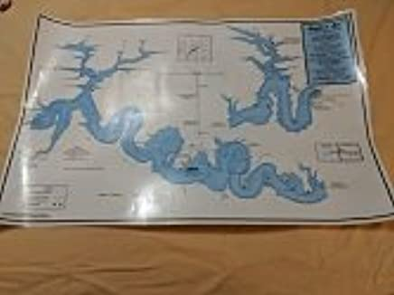 34 x 22 inch MMI Wall Map of Seven Points Marina on Raystown ...