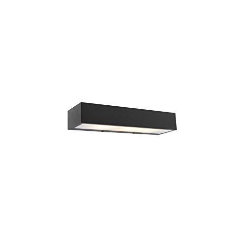 QAZQA Diseño Aplique diseño oblongo negro