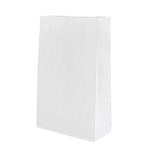 Jia HU Lot de 30 sacs papier kraft recyclable avec fenêtre Package Sacs Nourriture déjeuner Pain Toast Sac 24*12*5cm/9.4*4.7*2Inch
