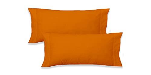 Elige - Funda Almohada Microfibra (Naranja, Almohada 90 CM)