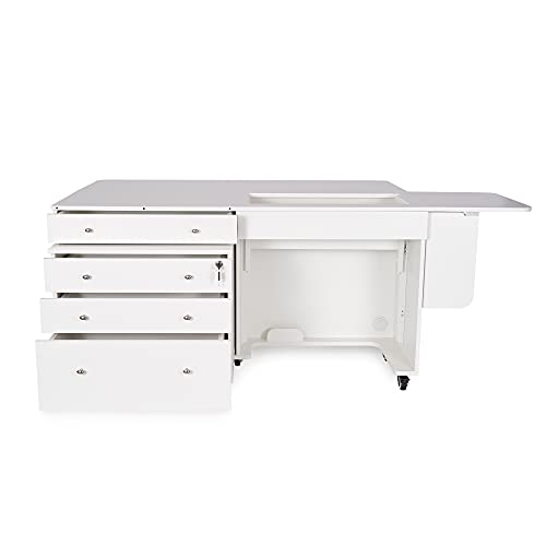 Big Sale Kangaroo Kabinets K8811 Kangaroo and Joey, Sewing Cabinent and Three Drawer Storage Unit, Ash White