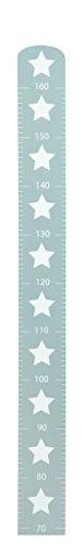 roba Messlatte \'Little Stars\' mit Sterne Motiv, Wachstumsmesser mit Skala bis 160 cm für Kinder, Messleiste aus Holz, grau