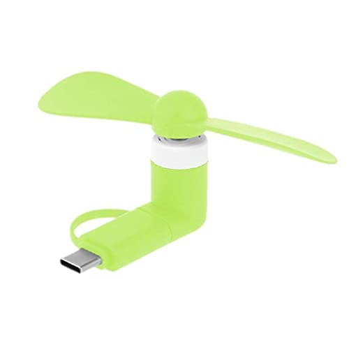 Abcidubxc Mini ventilador universal para teléfono móvil, tipo C, micro USB, OTG, mini ventilador, para teléfono móvil, tableta tipo C, batería externa, cargador USB
