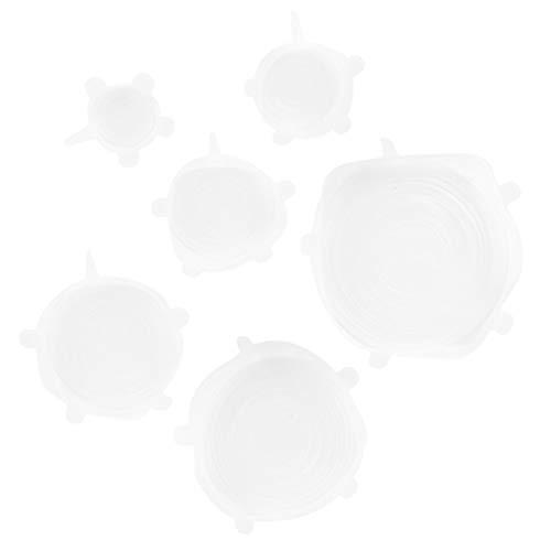 Emoshayoga Resistencia a la Temperatura Tapa de Sellado de Alimentos Simple práctica Tapa de Alimentos Reutilizable Resistencia a la corrosión Tapas elásticas Alta flexibilidad para cocinar horneado
