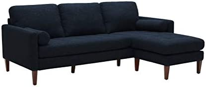 Best Amazon Brand – Rivet Aiden Mid-Century Sectional with Tapered Wood Legs, 86
