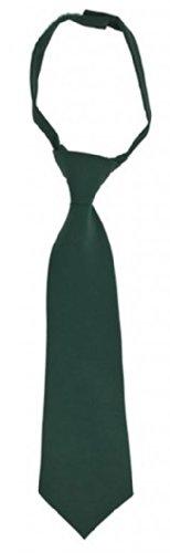 French Toast Boys School Uniforms Adjustable Solid Color Tie 8-12 Hunter Green