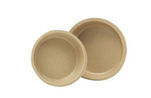 Solut 91088 Kraft Paper Smooth Wall Round Baking Cup with Flange, 5.34' Diameter x 1.19' Depth, Natural, 10-Ounce Capacity (Case of 500)
